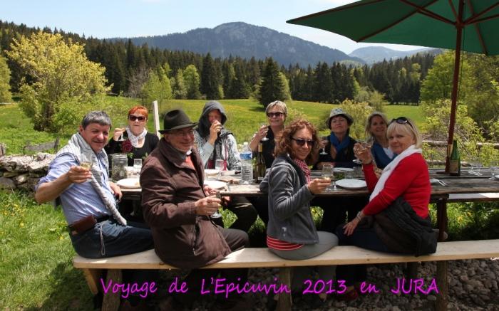Voyage  de  L'Epicuvin  en  JURA  en  JUIN  2013